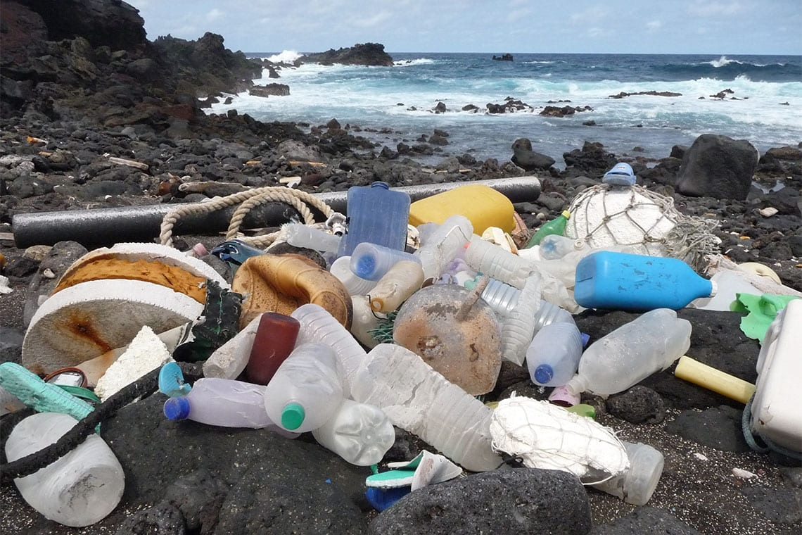 Ascension Island in the South Atlantic Ocean is yet another remote island littered in plastic waste (photo by Marcus Eriksen)