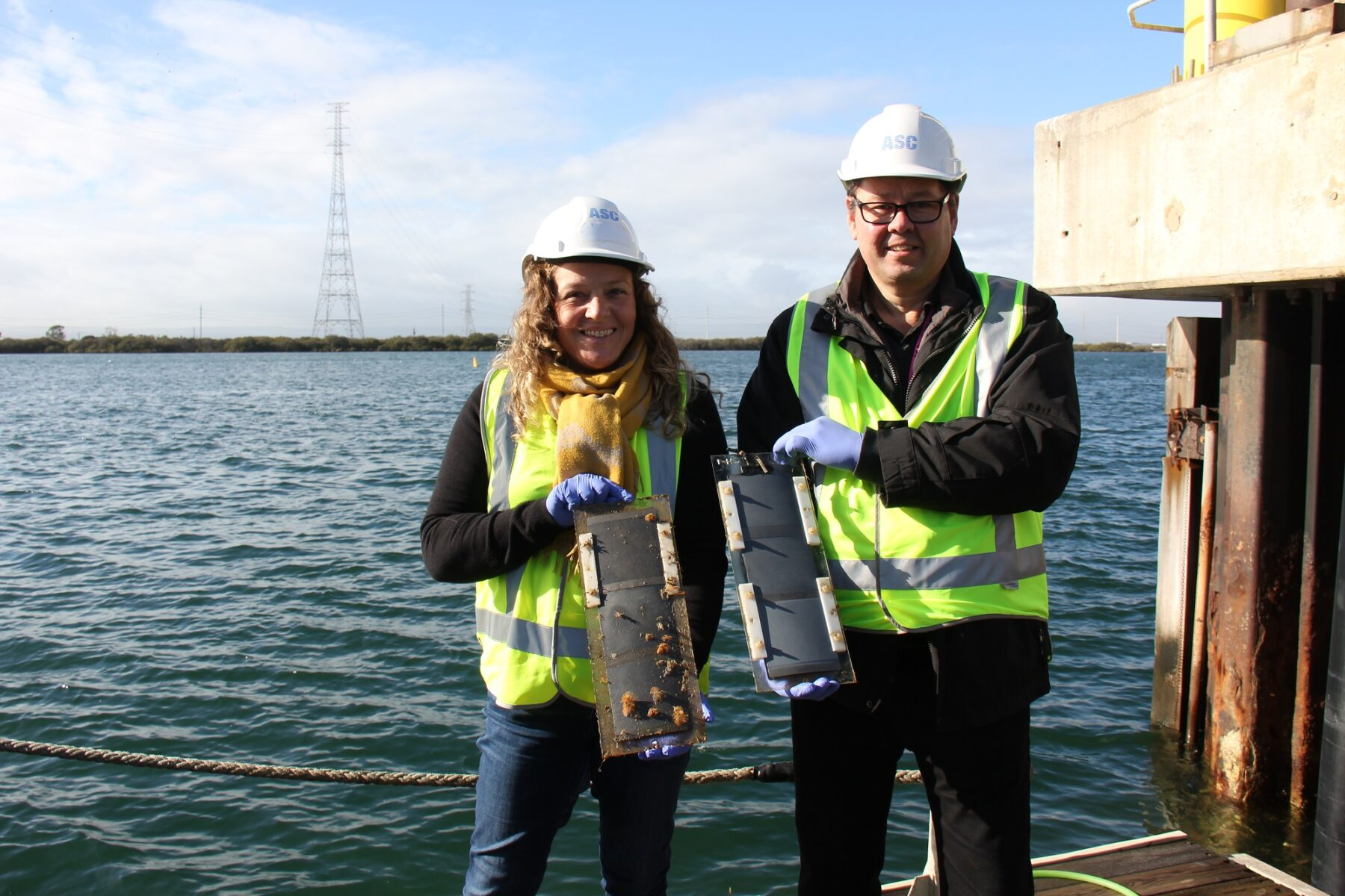 Associate Professor Sophie Leterme and Professor Mats Andersson at ASC reviewing the research. Image credit: ASC