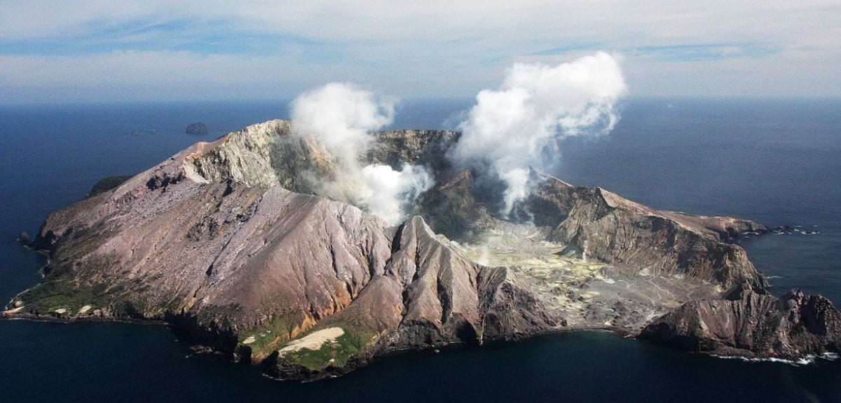 White Island volcano, New Zealand. This is one of many volcanoes worldwide that discharge hot, metal-rich fluids to the atmosphere. In the case of White island, the discharge amounts to some 100 tonnes per year of copper and 4.5 kg per year of gold. Not all of the metals in the volcanic fluids reach the surface, in fact most is retained at depth. The challenge for green mining is to harness the metal-rich fluids that get trapped underground and the associated geothermal power. Credit: Professor Richard Arculus, Australian National University