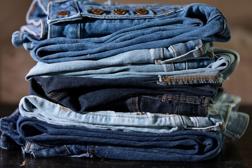 The process of dyeing jeans is one of the top sources of pollution within the fashion industry. New research found a more eco-friendly alternative. (Photo by Andrew Davis Tucker/UGA)