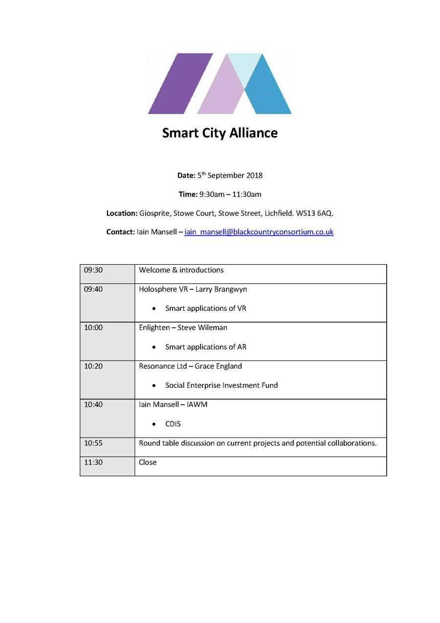 Smart City Alliance Agenda 05.09.18 v2