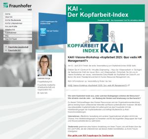 KAI - Kopfarbeit-Index des Fraunhofer IAO
