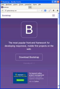 Responsive Seiten mit Bootstrap