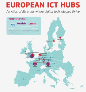 European ICT Hubs (Quelle: http://europa.eu/rapid/press-release_IP-14-435_de.htm)