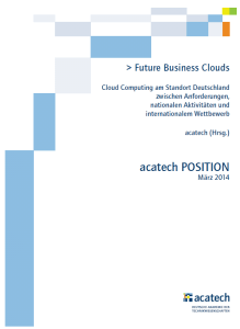 Future Business Clouds - Positionspapier von acatech
