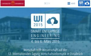 Tagung Wirtschaftsinformatik 2015 in Osnabrück