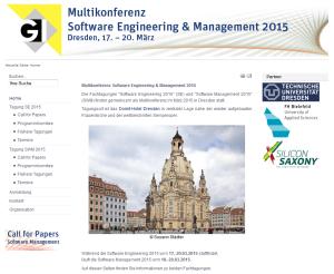Software Engineering und Management 2015 in Dresden