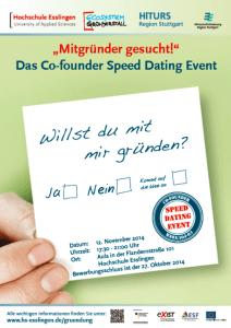 Speed Dating für Gründer in Esslingen