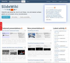SlideWiki - Präsentationen kollaborativ erstellen