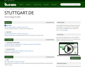 BuiltWith.com: Mehr über Webseiten erfahren ...