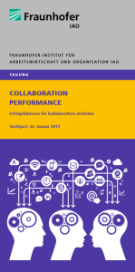 Fraunhofer IAO: Collaboration Performance - Erfolgsfaktoren für kollaboratives Arbeiten