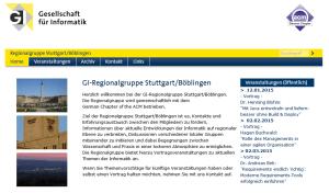 Spannende Vorträge bei der GI-Regsionalgruppe Stuttgart / Böblingen in 2015