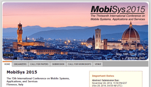 MobiSys 2015 in Florenz