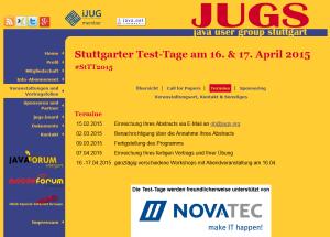 Stuttgarter Test Tage 2015 am 16. und 17. April 2015