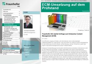Fraunhofer IAO ECM-Umfrage 2015