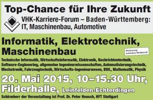 VHK-Karriere-Forum IT + MB/Automotive in Leinfelden