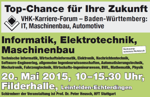 VHK-Karriere-Forum IT + MB/Automotive in Leinfelden