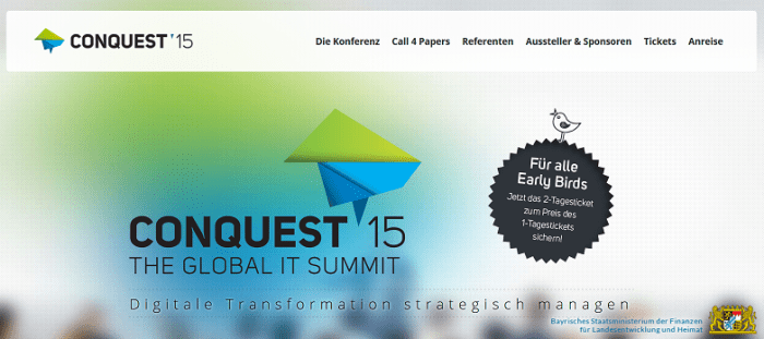 CONQUEST 2015: The Global IT Summit - am 17.+18.11.2015 in Nürnberg