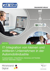 Fraunhofer-Studie IT-Integration von KMU in der  Automobilindustrie