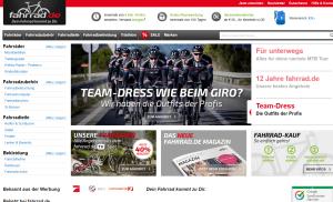 Webseite Fahrrad.de