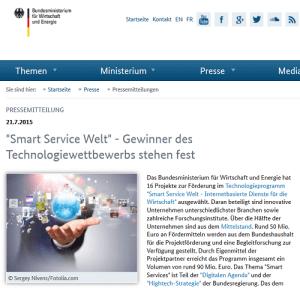 Smart Service Welt: Gewinner-Projekte stehen fest