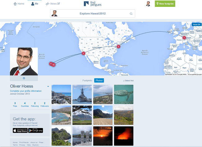 Findpenguins: Social-Travel-Blog mit neuem Look & Feel