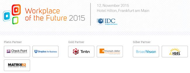 Workplace of the Future - IDC Konferenz in Frankfurt