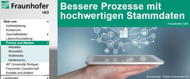 Stammdatenmanagement 2015: Neue Studie des Fraunhofer IAO