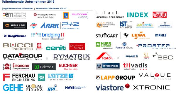 Lange Nacht der Unternehmen 2015 in Stuttgart: Teilnehmende Firmen