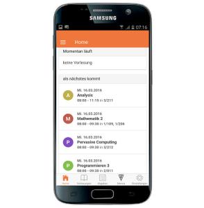 Die neue HFT-App: Anstehende Vorlesungen