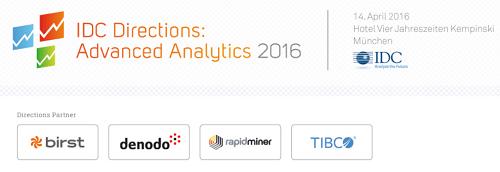 IDC Directions Advanced Analytics 2016 am 14.4.2016 in München