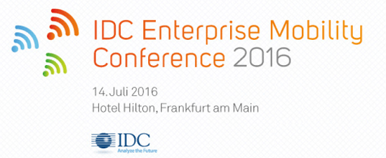 IDC Enterprise Mobility Conference 2016 in Frankfurt