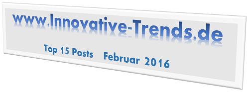 Top 15 Posts im Februar 2016