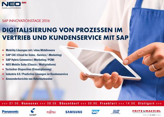 SAP Innovationstage 2016: Digitalisierung von Prozessen in Vertrieb und Service