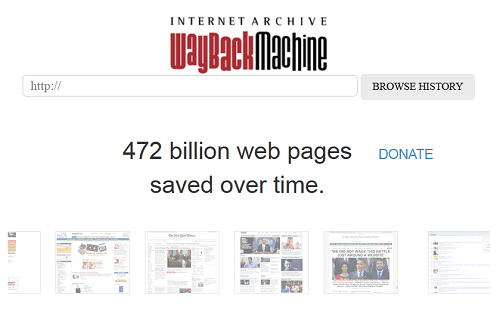 Die Wayback Machine des Internet Archive - Alte Versionen von Webseiten betrachten