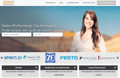 Odeki.de - Job-Portal für Schüler, Studierende und Young Professionals in Baden-Württemberg