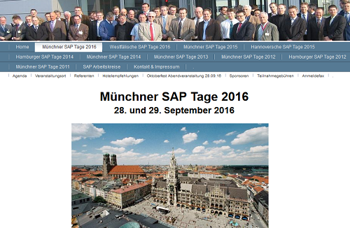 Münchner SAP Tage 2016 am 28. und 29. September 2016