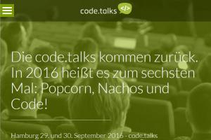 code.talks 2016 in Hamburg