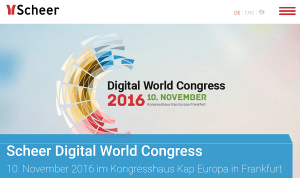 Scheer Digital World Congress in Frankfurt