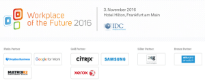 IDC Workplace of the Future Conference 2016
