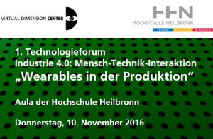 Forum Wearables in der Produktion