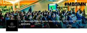 62. Mercedes-Benz Social Media Night am 7.12.