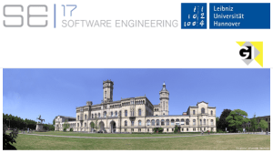 Software Engineering 2017 in Hannover