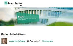 Mobiles Arbeiten bei Daimler