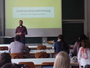 SEO-Experte Alexander Walz von SEO-Turtles zu Gast an der HFT Stuttgart