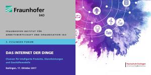 3. Esslinger Forum: Das Internet der Dinge am 17.10.2017