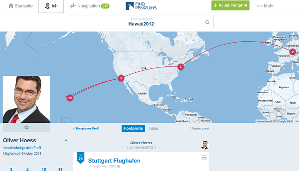 FinPenguins: Das Travel-Network