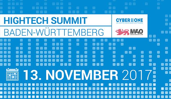 Wirtschaft 4.0 und CyberOne beim Hightech Summit BW 2017 am 13.11. im Europapark in Rust