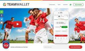 Teamwallet - Die Online-Mannschaftskasse (Screenshot Webseite)