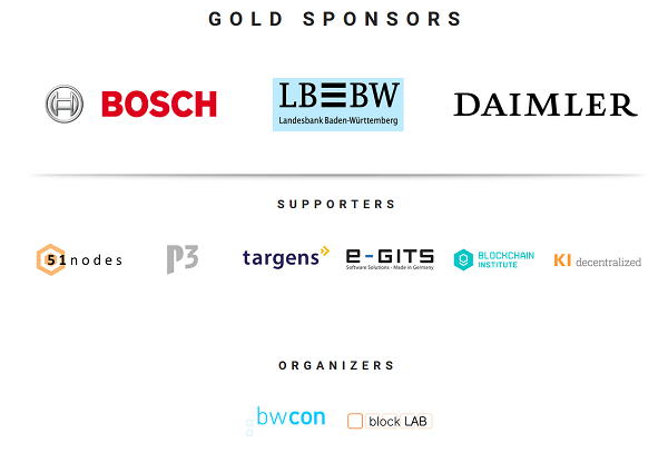 Blockchain Hackathon in Stuttgart - Sponsoren